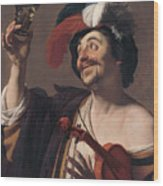 The Happy Violinist Wood Print
