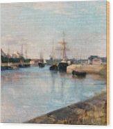 The Harbor At Lorient Wood Print