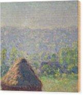 The Haystacks Wood Print by Claude Monet