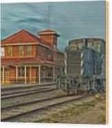 The Historic Santa Fe Railroad Station Wood Print