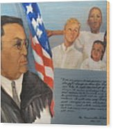 The Honorable Amos T. Hall Wood Print