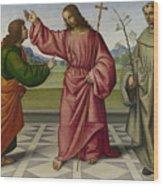 The Incredulity Of Saint Thomas Wood Print