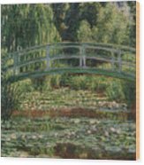 The Japanese Footbridge And The Water Lily Pool Giverny Wood Print