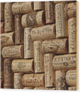 The Joy Of Wine Wood Print