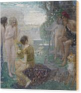 The Judgement Of Paris Wood Print