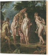 The Judgment Of Paris Wood Print