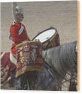 The Kettledrums Of Household Cavalry Wood Print by Andrew Chittock