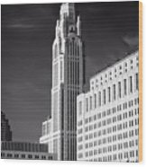 The Leveque Tower Of Columbus Ohio Wood Print