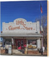 The Likely General Store - California  Wood Print