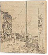 The Little Mast Wood Print