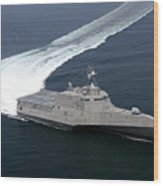 The Littoral Combat Ship Independence Wood Print