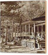 The Lodge Wood Print