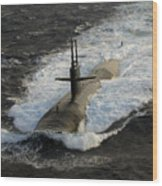 The Los Angeles-class Submarine Uss Wood Print