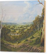 The Lost Sheep In The Scrub Wood Print