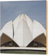 The Lotus Temple In New Delhi Wood Print