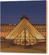 The Louvre Art Museum Wood Print