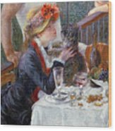 The Luncheon Of The Boating Party Wood Print