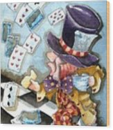 The Mad Hatter Wood Print
