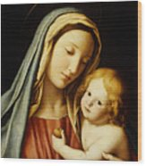 The Madonna And Child Wood Print