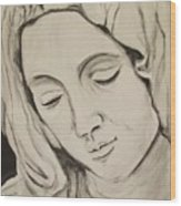 The Madonna Wood Print