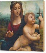 The Madonna Of The Yarnwinder Wood Print