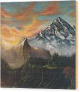 The Majestic Mountain Wood Print