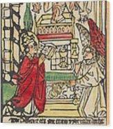 The Mass Of Saint Gregory Wood Print