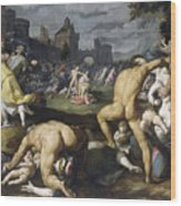The Massacre Of The Innocents, 1590 Wood Print