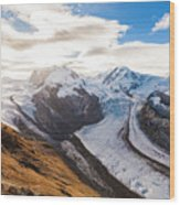 The Monte Rosa Massif In Switzerland Wood Print