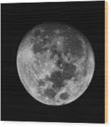 The Moon -  Wood Print