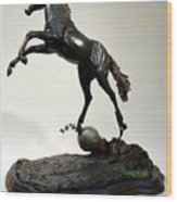 The Moonhorse Bronze  Wood Print by Dawn Senior-Trask