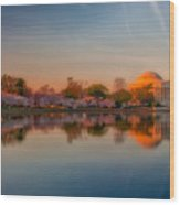 The Morning Glow Wood Print