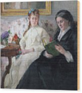 The Mother And Sister Of The Artist Wood Print