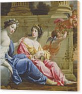 The Muses Urania And Calliope Wood Print