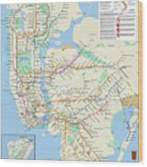 The New York City Pubway Map Wood Print