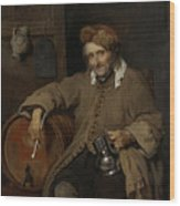 The Old Drinker Wood Print