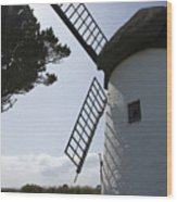 The Old Irish Windmill Wood Print