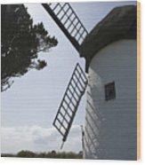 The Old Irish Windmill Wood Print