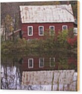 The Old Mill House Wood Print