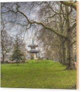 The Pagoda Battersea Park London Wood Print