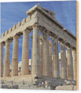The Parthenon Acropolis Athens Greece Wood Print