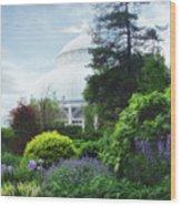 The Perennial Garden Wood Print