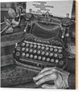 The Writer's Desk  Wood Print
