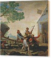 The Quarrel In The New Tavern Wood Print