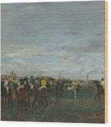 The Races Wood Print