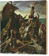 The Raft Of The Medusa Wood Print by Theodore Gericault