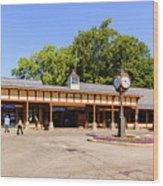 The Railroad Station In Scarsdale Wood Print