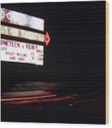 The Roosevelt Drive Inn Wood Print