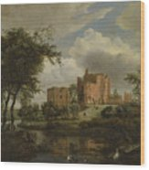 The Ruins Of Brederode Castle Wood Print