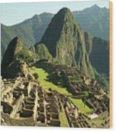 The Ruins Of Machu Picchu, Peru, Latin America Wood Print